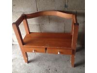 Hardwood bench for sale