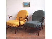 Mid Century Vintage Retro Ercol 252 Armchairs £135 each