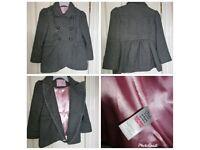 TU girls grey coat size 4-5 years