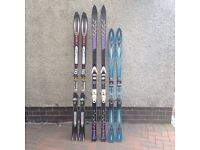 3 Pairs of skis with bindings