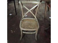 Broken wicker chairs