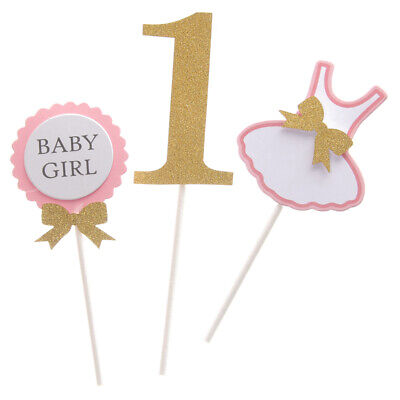 BABY GIRL Clothing Dress Design Cake Topper for 1st Birthday Party