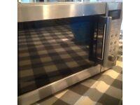 Sharp stainless steel microwave