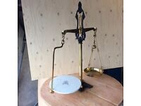 Scales brass antique