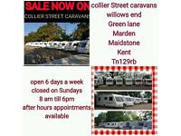 Summer sale now on all caravans prices from £3000