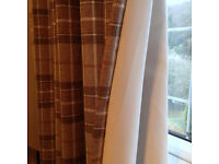 NEXT lined eyelet curtains. Lovely warm autumnal tones.