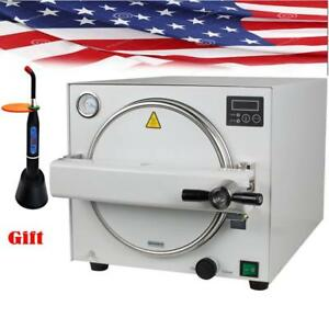 18L 900W Medical Steam Autoclave Sterilizer Dental Lab Equipment - BRAND NEW - FREE SHIPPING