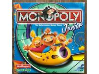 Monopoly Junior Board Game Good Condition