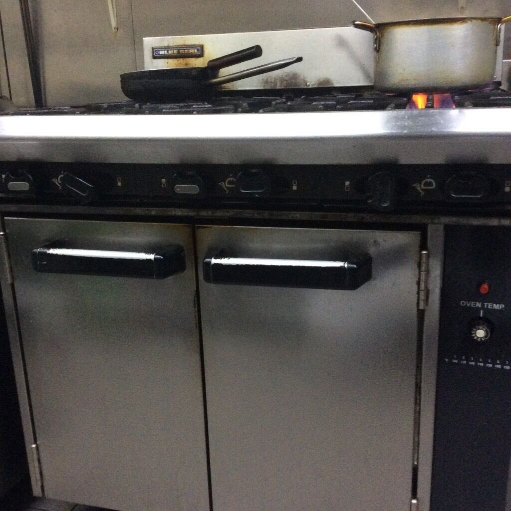 Commercial 6 burner gas cooker