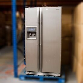 Samsung Side by Side Refrigerator with Ice & Water Dispenser RS21DCNS