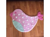 Little bird rug from Laura Ashley in good used condition.