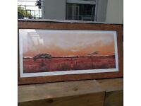 Framed African landscape print