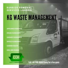 07496080017 - RUBBISH REMOVAL - SAME DAY SERVICE - WASTE CLEARANCE - WASTE COLLECTION