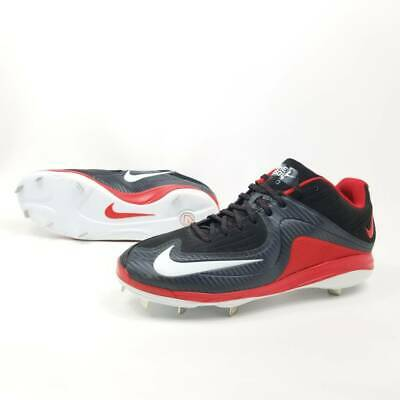 Nike Air Mens 14 Baseball Cleats Softball BSBL Pro Black Red 684885 Spiked Mens Softball Spikes
