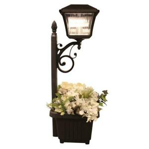 NEW Gama Sonic Solar-Charged LED Accent Light with Planter