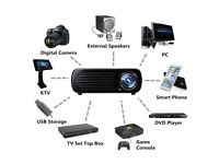 Projector Video 3D HDMI USB VGA 4500 Lumens 1080P HD LED