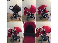 Baby Couture Limited Edition 3 in one Pram & attachable car seat EXCELLENT CONDITION