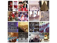 Popcorn candy floss machines, sweet carts, mascots, wedding, event decor, chair covers, backdrop