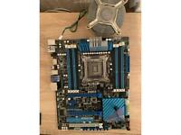 Asus P9X79 LGA2011 motherboard for parts or fix.
