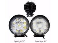 27W LED Flood/Spot Work Driving Light Lamp Car Van ATV Recovery PickupTruck SUV 4x4WD