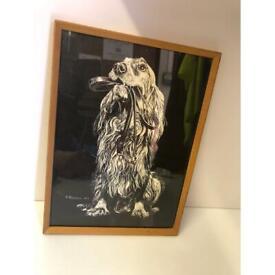 r.russell cocker spaniel 1977 dog print