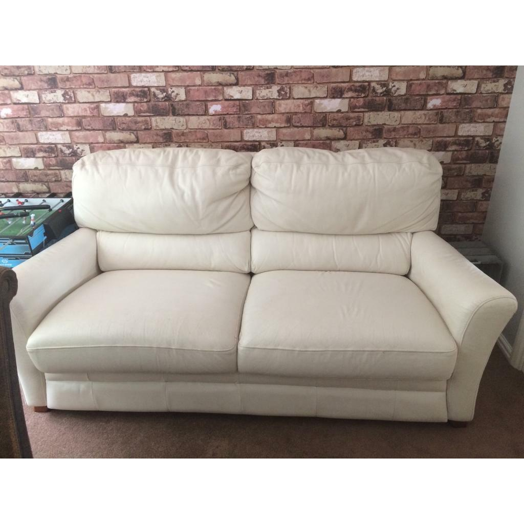 Cool Small Cream Leather Sofa And Chair In Hedge End Hampshire Gumtree Creativecarmelina Interior Chair Design Creativecarmelinacom