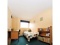 One single bed room in a shared flat of john lester court in salford.