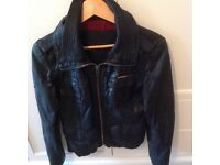 SUPER DRY LEATHER JACKET SIZE 10/12 nearly new