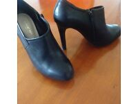 Ladies black shoe/boot - Autograph - size 38 - 4 inch heel