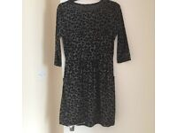 Warehouses Animal print skater style dress size 10 from warehouse
