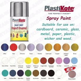 PLASTI-KOTE FAST DRY ENAMEL SPRAY PAINT 100ML 27 COLOR'S NEW ROSE GOLD AEROSOL