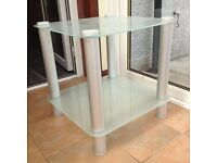 Square Frosted Glass Side/Coffee Table for Sale