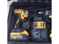 Dewalt 18v 5ah triple cordless pack! Impact, rotary drill and sds drill 2 months old