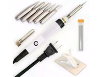 9 Pieces Set Soldering Iron Kit 60w - 220v - Best for Small Electric Work, Jewellery and Welding