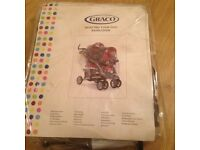 Graco twin pushchair rain cover Brand new