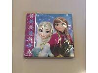 Unopened Frozen Napkins x 20 Disney Party - Brand New