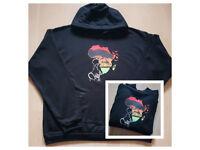 Women Afro Sunset Hoodie Brand New Size 2XL