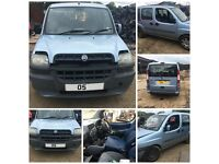 Fiat Doblo Family Van JTD 1.9 2005 Light Blue Bonnet all parts available