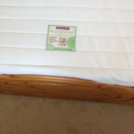 Excellent condition King size pine bed with king size mattress