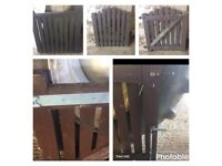 Various used solid wood gates & fittings