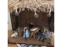 Gorgeous Christmas Nativity Scene with working lights