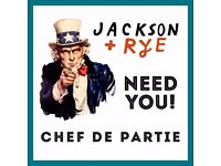 Grill Chef: Jackson + Rye: Bank: (Mon - Fri) Up to £10 an hour