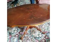 Lovely French polished coffee table