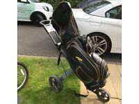 Golf bag and trolley