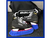 Pre-Owned Bauer Junior Ice Hockey Skates Size 36 UK 3.5