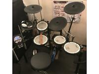 Roland TD11-KV Electric Drum Kit with additional cymbal, pedal and stool