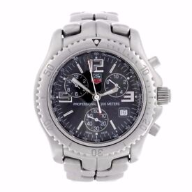 TAG HEUER - a gentleman's Link chronograph bracelet watch. Stainless steel case