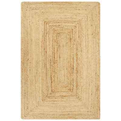 vidaXL Alfombra Hecha a Mano de Yute Natural 120x180 cm Decoración Hogar...