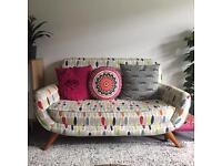 Laura Ashley colinton sofa in Wallace fabric, rare discontinued, retro