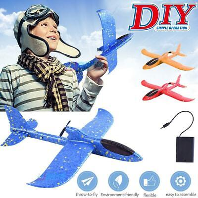 Glider Electric Throwing Foam Aeroplane DIY Assembled Model Sports Aircraft Toy